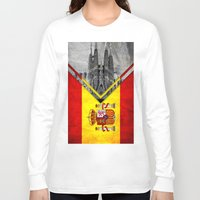 spain Long Sleeve T-shirts featuring Flags - Spain by Ale Ibanez