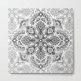 Pattern in Black & White Metal Print