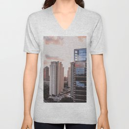 Sunset City Unisex V-Neck