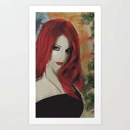 Monologue – Portrait of a Redhead Art Print