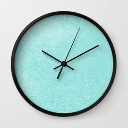 Pastel Teal Blue Grunge Ombre Pastel Texture Vintage Style Wall Clock