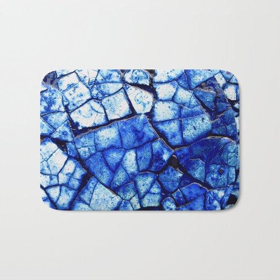BLUE STONE CRACKS Bath Mat