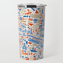 Paris City Map Poster Travel Mug