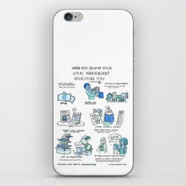Support Your Independent Bookstore iPhone Skin