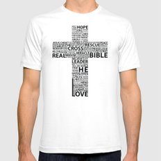 The base of it all it's love SMALL Mens Fitted Tee White