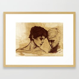 Won't you take a breath and dive in deep  Framed Art Print