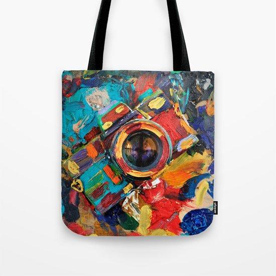 oil paint retro camera Tote Bag