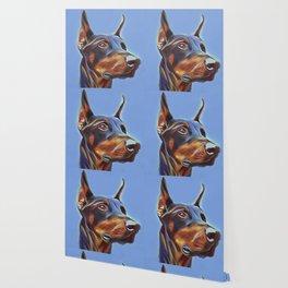 Blue Doberman Wallpaper