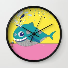 Hugo the Whale Wall Clock