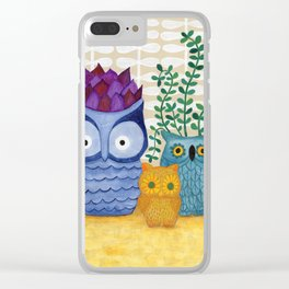 Collections of Owls Clear iPhone Case