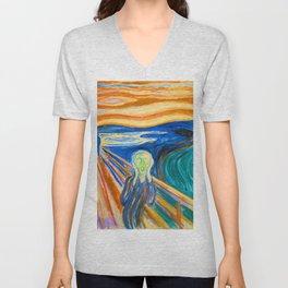 Edvard Munch The Scream 1910 Unisex V-Neck