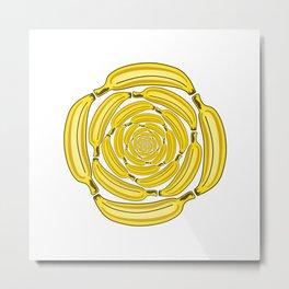 Banana Vortex 1 Metal Print