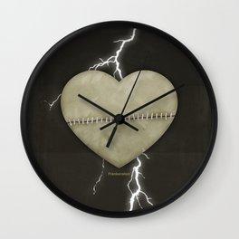 Mary Shelley's Frankenstein - Minimalist literary design, literary gift, bookish gift, illustration  Wall Clock