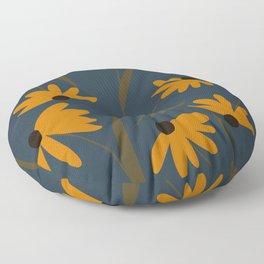 Autumn Floral Pattern Floor Pillow
