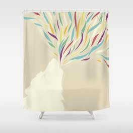 The Harlequin's Wolf Shower Curtain