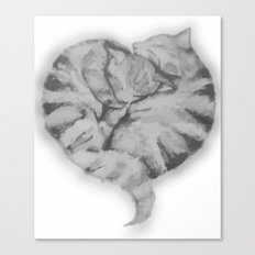 Cuddling Cats Canvas Print