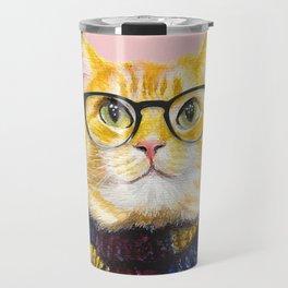 Bob the cat with glasses Travel Mug