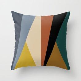 Geometric Triangles - Bold Rainbow Throw Pillow