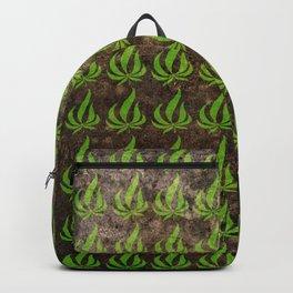 Pot leaf pattern Backpack