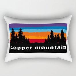 Copper Mountain Colorado Ski Snowboard Resort Skier Snowboarder Winter Park Gift Ideas Rectangular Pillow