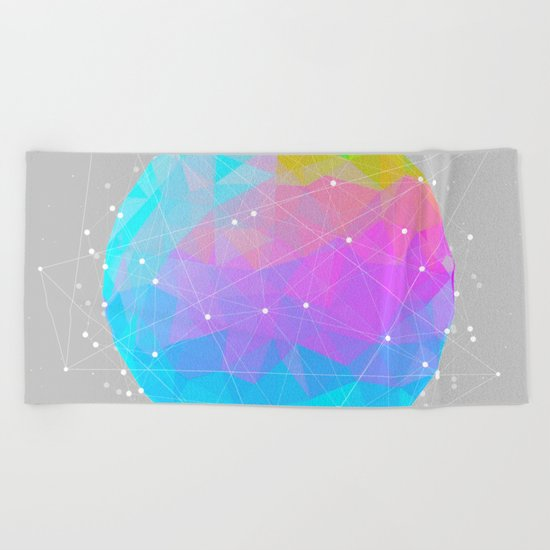 The Dots Will Somehow Connect (Geometric Sphere) Beach Towel
