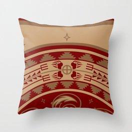 Bear Spirit (Maroon) Throw Pillow