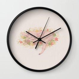 Fox sleeping Wall Clock
