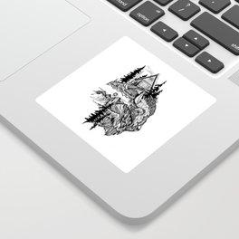 White Buffalo Sticker
