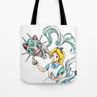 projectrocket Tote Bags featuring I'm not all there Myself by Randy C