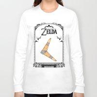 the legend of zelda Long Sleeve T-shirts featuring Zelda legend - Boomerang by Art & Be