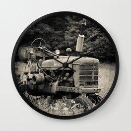 Old Vintage Farm Tractor Wall Clock