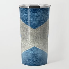 Scottish Flag - Vintage Retro Style Travel Mug