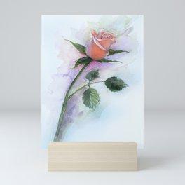 A Peach Rose Mini Art Print