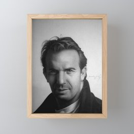 KEVIN COSTNER Framed Mini Art Print