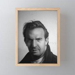 KEVIN COSTNER Framed Mini Art Print