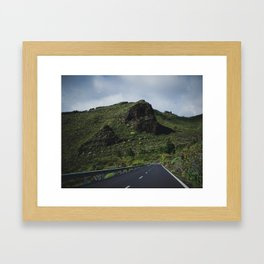 Road to Los Gigantes, Tenerife Framed Art Print