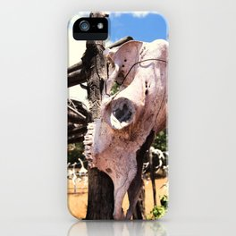 Cow Skull Ranch iPhone Case