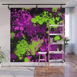 Paint splatter seamless pattern Wall Mural