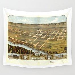 Bird's eye view of New Ulm, Brown County, Minnesota (1870) Wall Tapestry