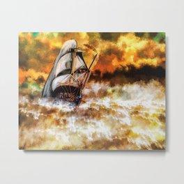 Fire Voyage Metal Print