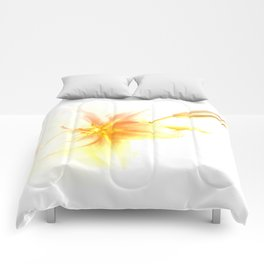 Pink and Yellow Tiger Lily - Dreamy Floral Photography - Flower Art Prints, T-shirts, Phone Cases... Comforters