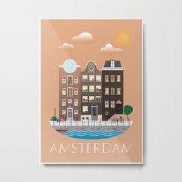 AMSTERDAM poster Metal Print