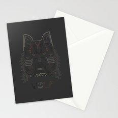 Wolf line illustration Stationery Cards