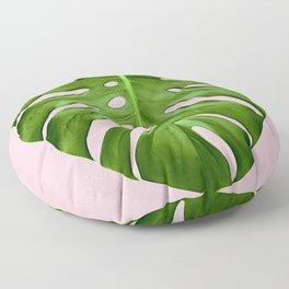 Pink Monstera Floor Pillow