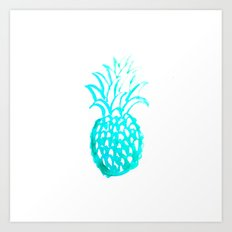 Tropical Pineapple Watercolour Art Print
