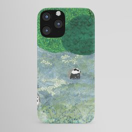 Badgers amongst the bluebells iPhone Case