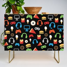 Video Game Party Snack Pattern Credenza