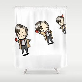 Kawaii Eleventh Doctors Shower Curtain