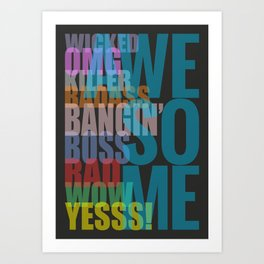 Awesome - Typography Poster Art Print