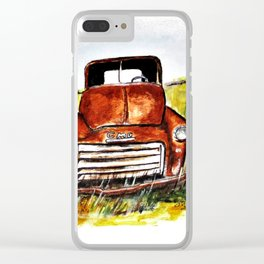Rusted Farm Truck Clear iPhone Case